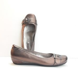Ecco Bronze Ballet Wedge